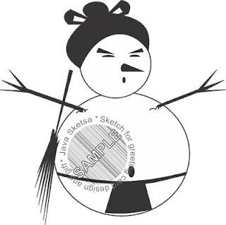 sumo snowman clipart