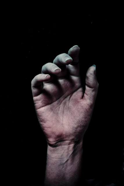 Close up of a hand of dead and decaying person - Marie Carr Photography