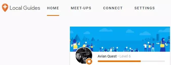 Avian Quest Google Local Guide Level 6