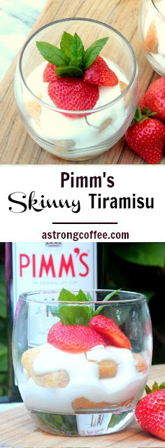 Pimm's Skinny Tiramisu using quark and creme faiche