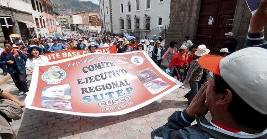 SUTER Cusco advierte que setiembre será el reinicio de huelga magisterial