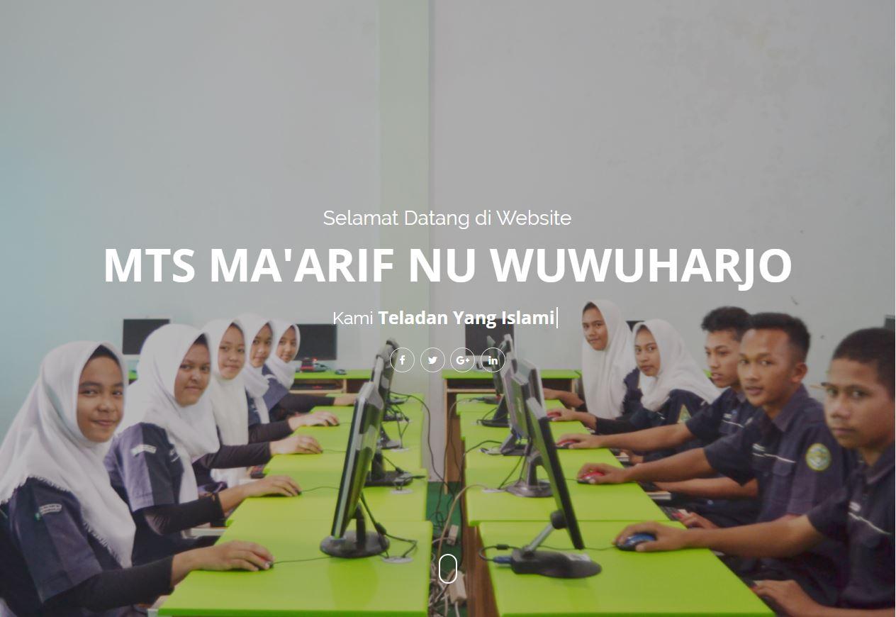 Website MTs MA'ARIF NU WUWUHARJO By ROMOCODE