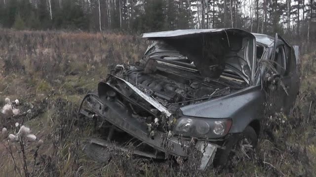 ВБашкирии иномарка влетела сдороги: погибли два человека