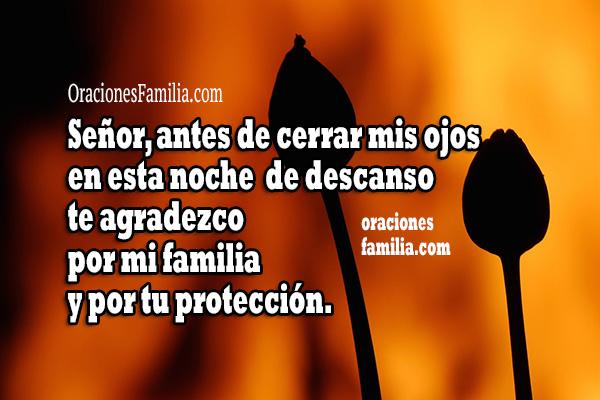 Frases con oraciones de la noche antes de dormir, oración bonita de protección antes de ir a la cama, buenas noches por Mery Bracho.
