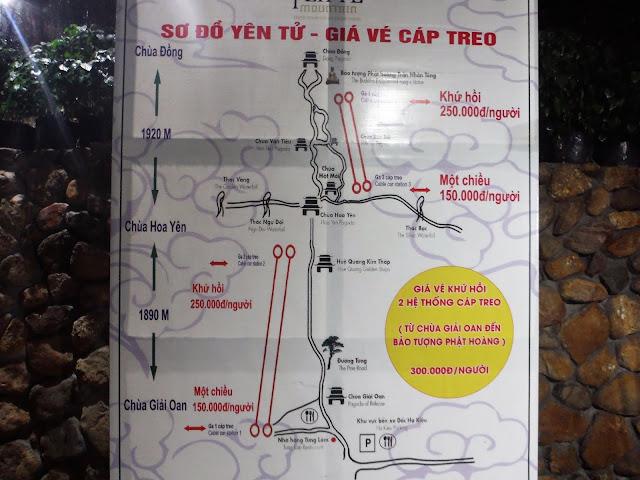 yen tu map vietnam