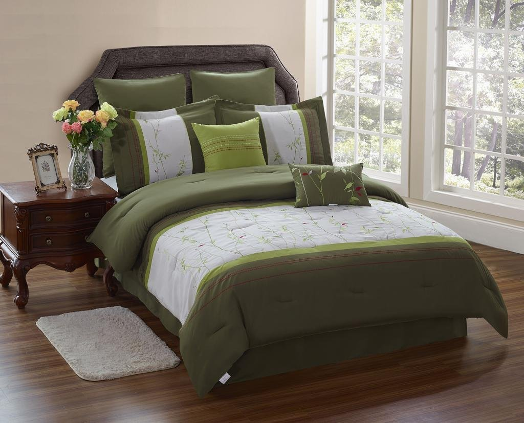 Olive Green Bedding Sets: Green Serene On A Budget