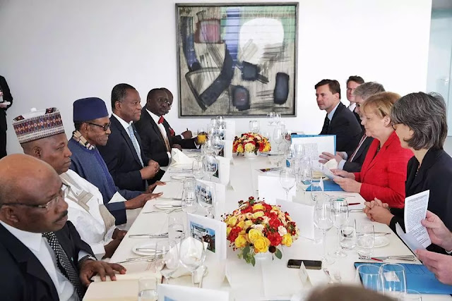 BREAKING: See how German chancellor received President Buhari (photos)