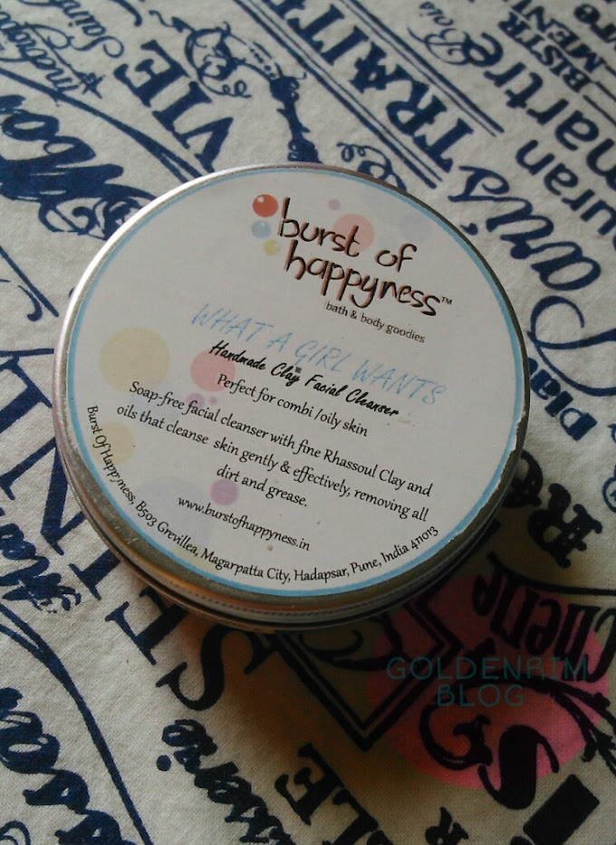 Burst of Happyness What a girl wants cleanser Review, Price, Availability