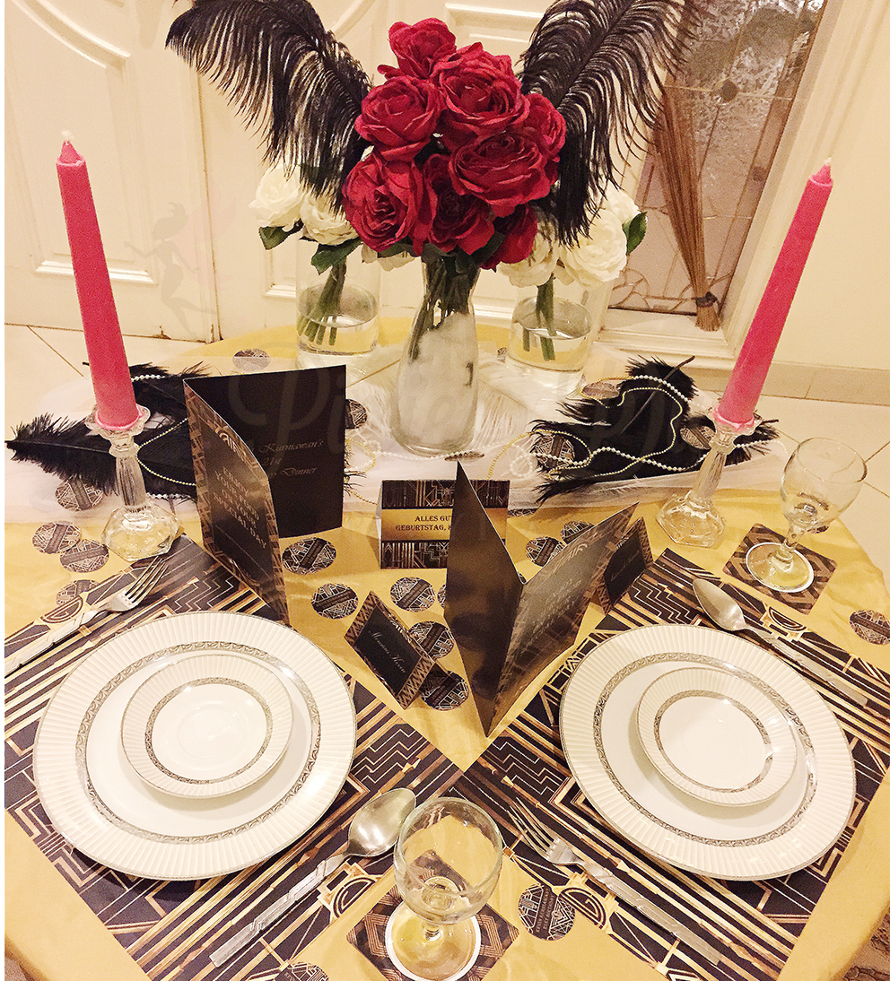 Romantic Dinner With Great Gatsby Theme | Pixie Dust Party Planner