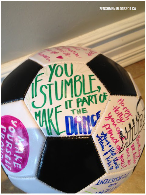 Inspirational Soccer Ball | Zenshmen.com | An inspiring gift for a young athlete
