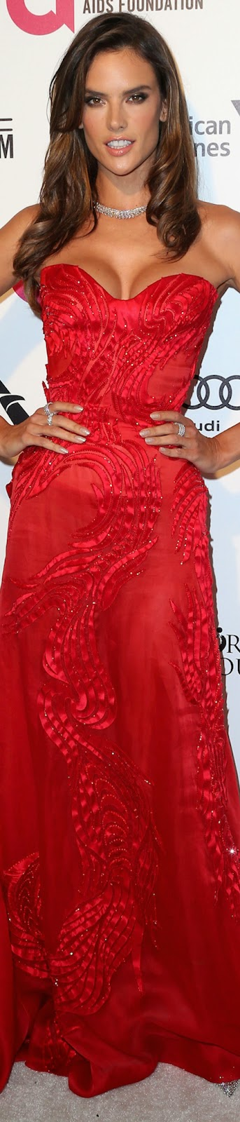 2015 Elton John Oscar Party Alessandra Ambrosio