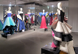 Some of the Capucci designs on display at the Roberto Capucci Foundation Museum in Florence
