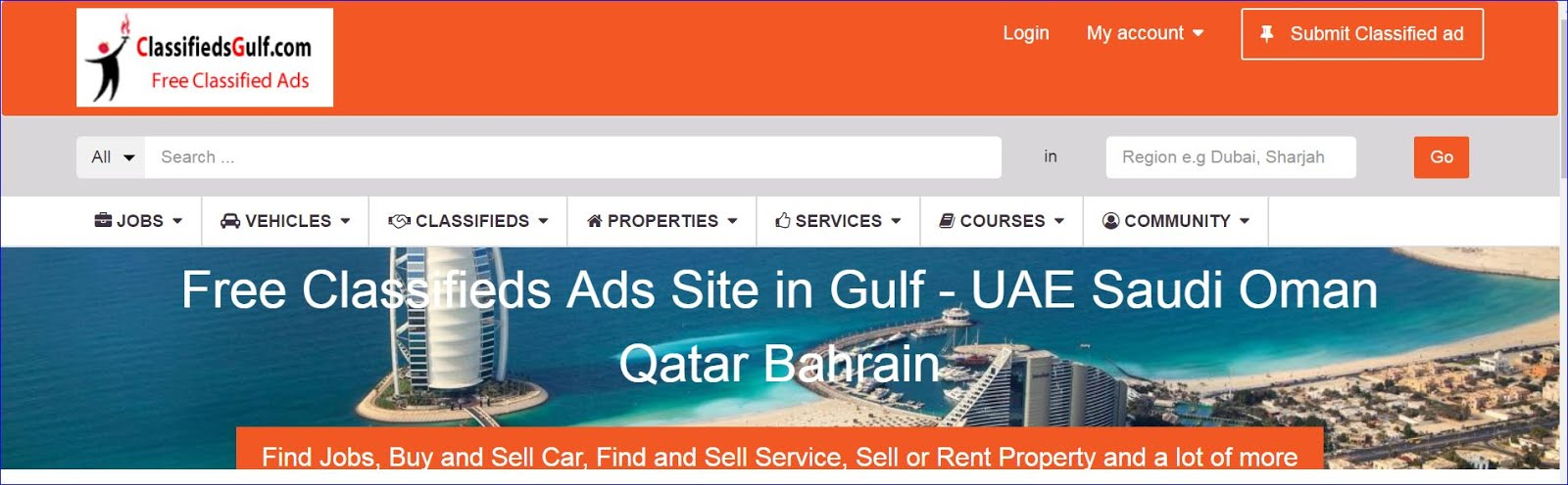 ClassifiedsGulf.com - UAE largest Free Classifieds Ads. Buy and Sell anything free