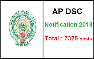 AP DSC Notification 2018 Manabadi