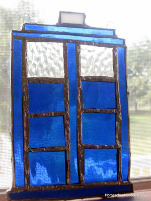 Glass Tardis on the Virtual Refrigerator - an art link-up hosted by Homeschool Coffee Break @ kympossibleblog.blogpspot.com