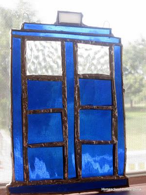 Glass Tardis on the Virtual Refrigerator - an art link-up hosted by Homeschool Coffee Break @ kympossibleblog.blogpspot.com