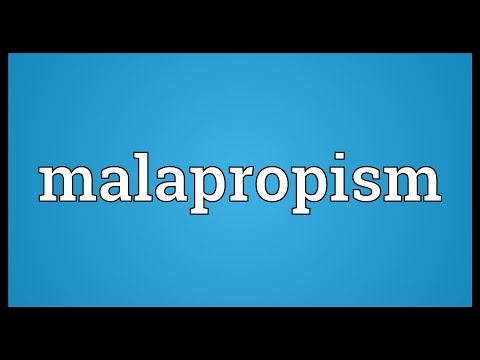 Malapropism An Overview All About English Literature
