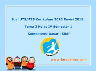 Contoh Soal UTS/ PTS Tema 2 SBdP Kelas 4 Semester 1 K13 Revisi 2018
