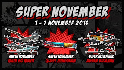 Event PB Garena 1 November 2016 - Super November
