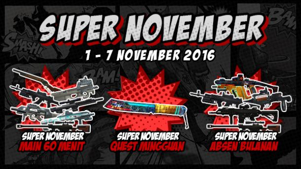 Event PB Garena 1 November 2016 Super November