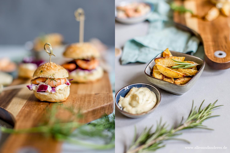 fingerfood f r silvester mini garnelen burger mit ofenkartoffeln alles und anderes. Black Bedroom Furniture Sets. Home Design Ideas