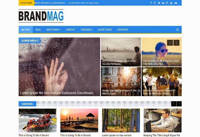 Brand Mag - Responsive Blogger Template