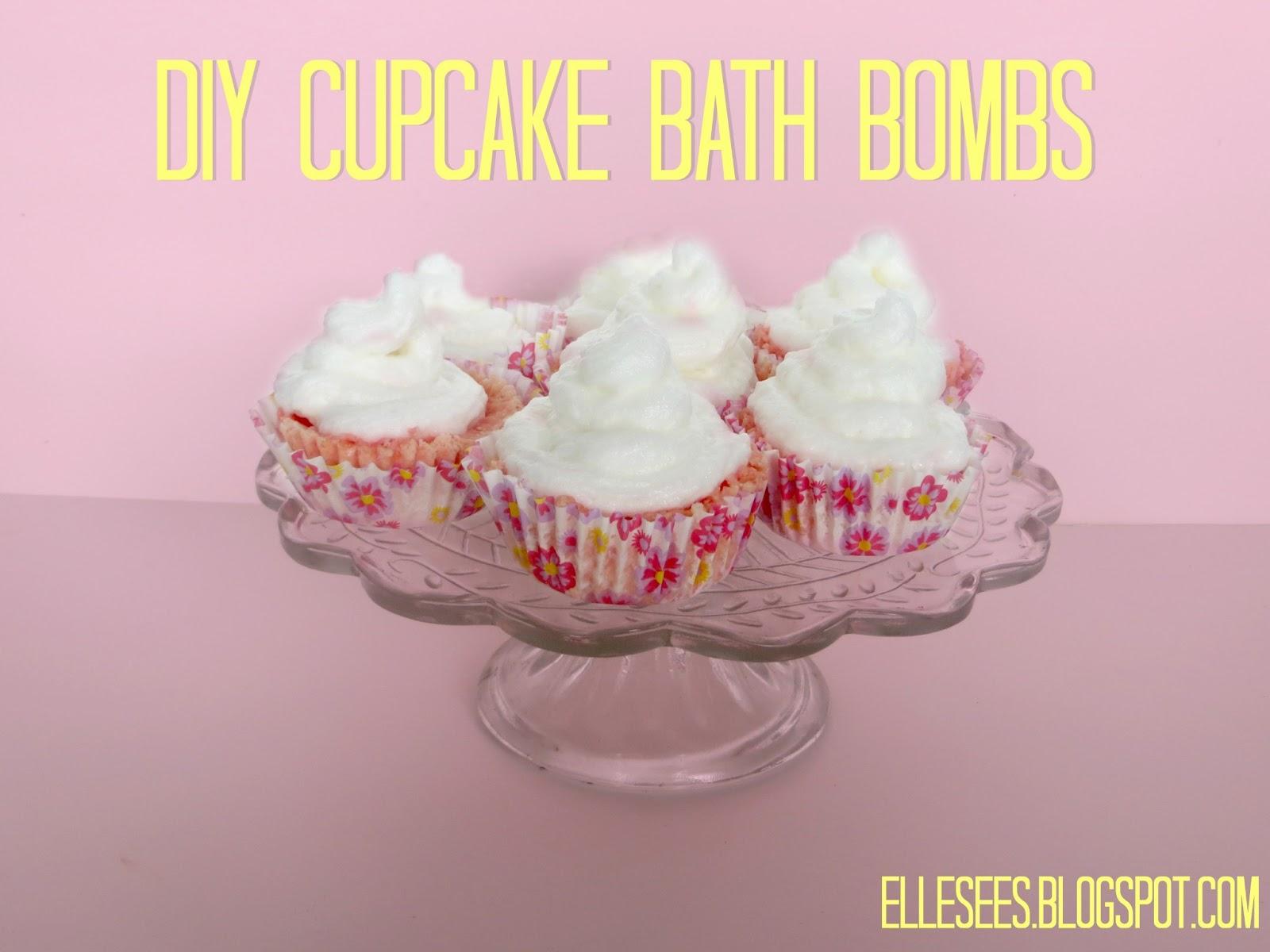 Elle Sees|| Beauty Blogger in Atlanta: DIY: Cupake Bath Bombs