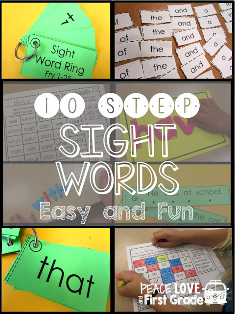 10 easy activities to help your students master sight words!