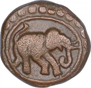 Copper Kasu Coin of Devaraya II