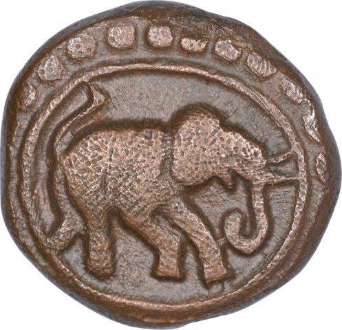 Copper Kasu Coin of Devaraya II
