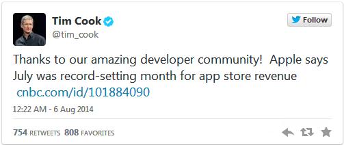 App Store của Apple đạt doanh thu kỉ lục trong tháng Bảy