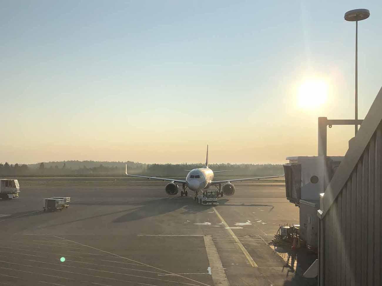 Helsinki-Vantaan lentokentällä