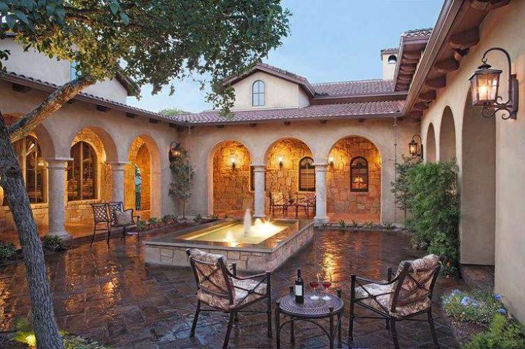 mediterranean architectural style characteristics indoor and