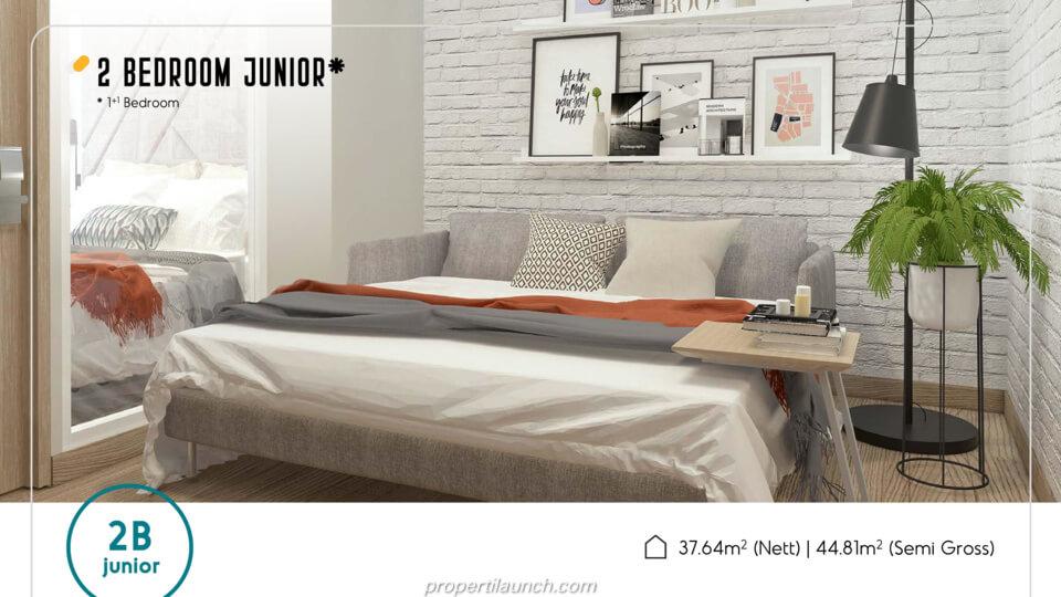 Apartemen Skandinavia Alter Ego tipe 2 BR Junior