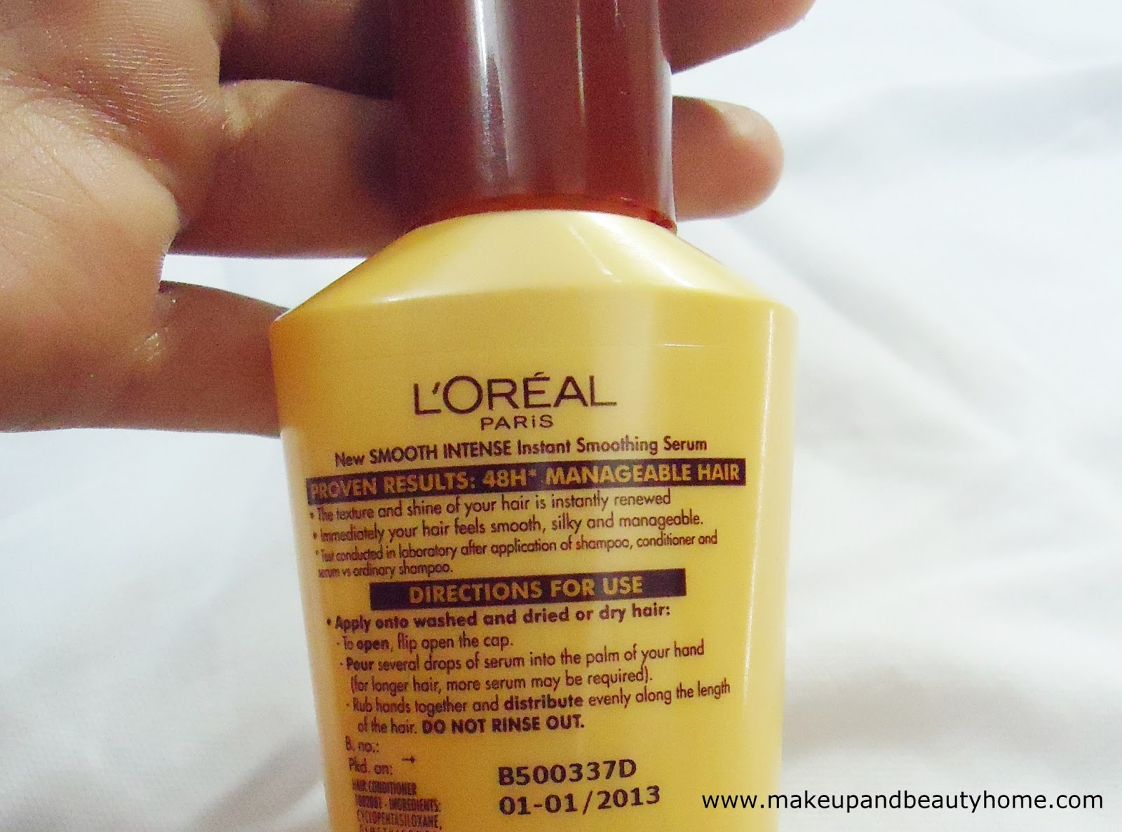 My Take On L Oreal Paris Smooth Intense Instant Smoothing Serum