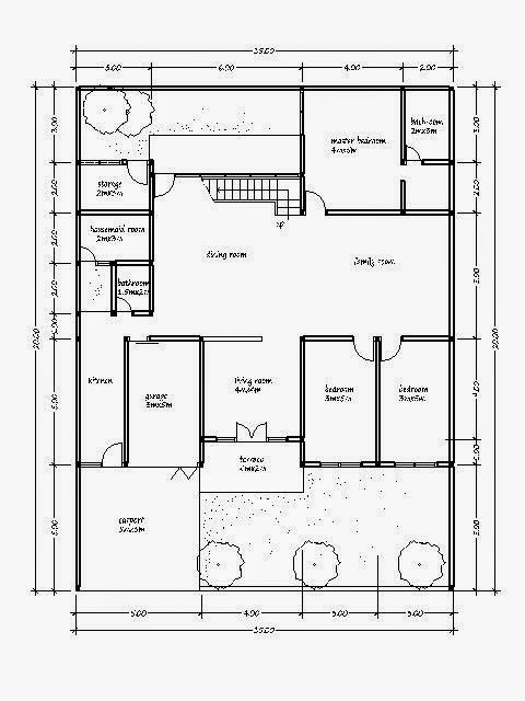 House plan 350 square meters of land in 15m x 20m house for Home design 84 square metres