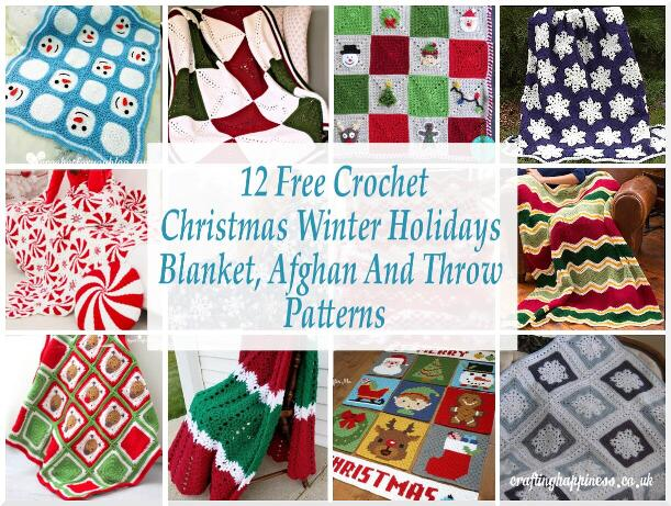 12 Free Crochet Christmas Winter Holidays Blanket Afghan And Throw