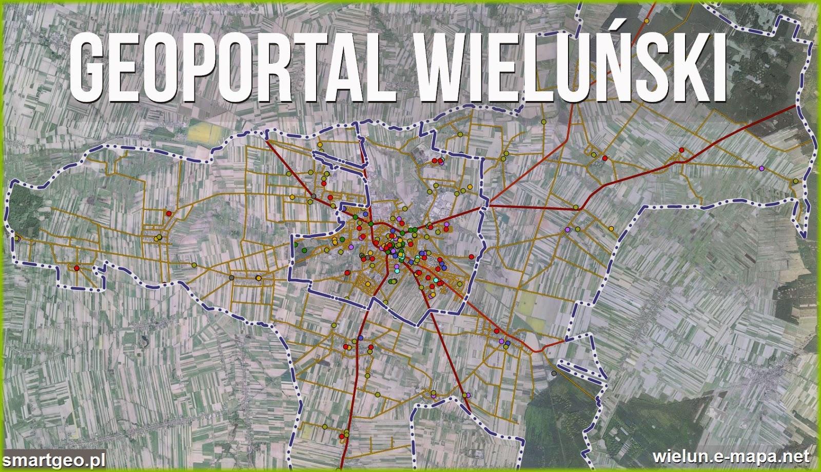 Geodezja Lodz Mapa Miasta I Gminy Wielun