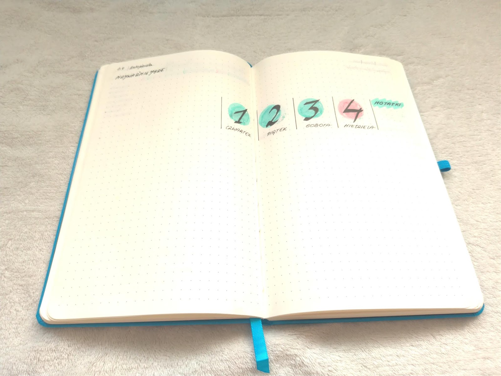 weekly log w Bullet Journal