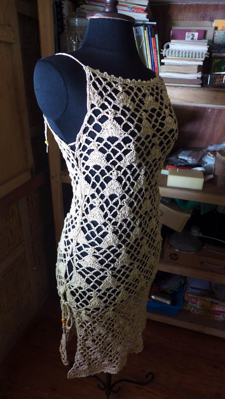 Crochetology by Fatima: Lace-Up Overdress Free Crochet Pattern
