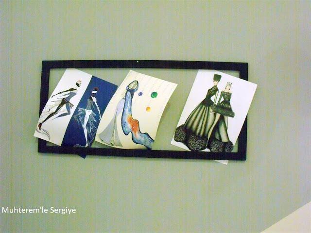 artistik kadın giysisi çizimi