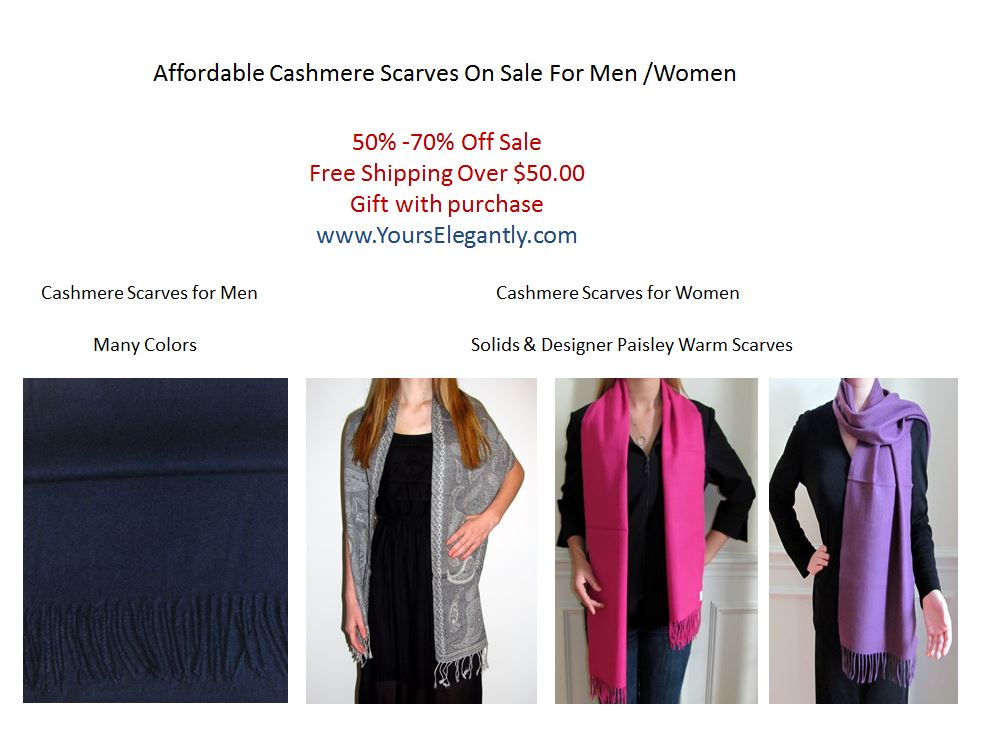 Affordable Cashmere Scarves on Sale for Men and Women ...