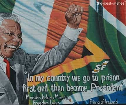 nelson mandela good morning quote mural belfast