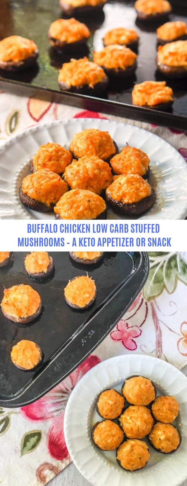 Buffalo Chicken Low Carb Stuffed Mushrooms