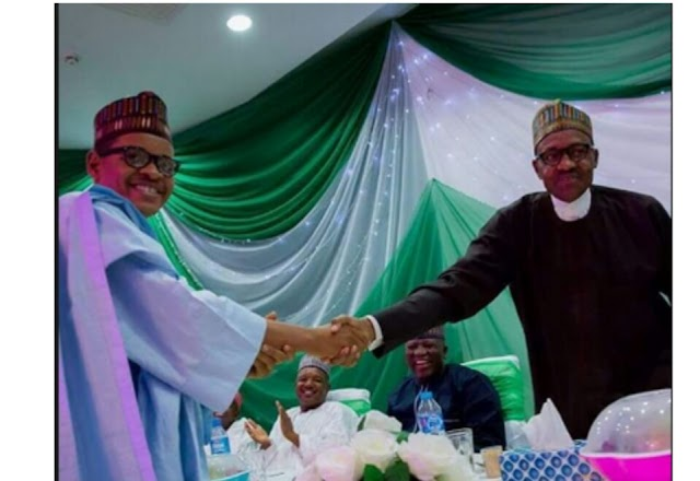 Buhari's Look-Alike And His Twin Brother At APC Convention With DSS Operatives (See Photos)
