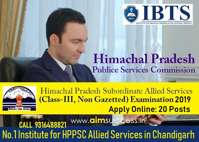 HPPSC Allied Services Subordinate Exam 2018-19 Apply Online: 20 Posts