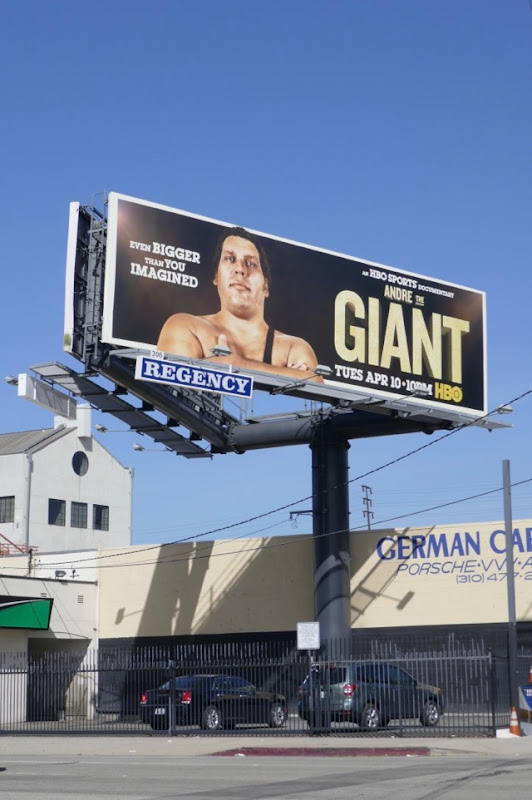 Andre The Giant HBO Sports billboard