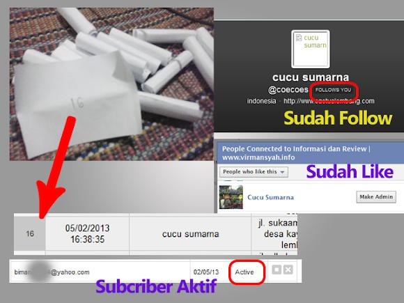 """Pemenang Undian Buku Gratis """"Habibie & Ainun"""" Periode Februari 2013"""