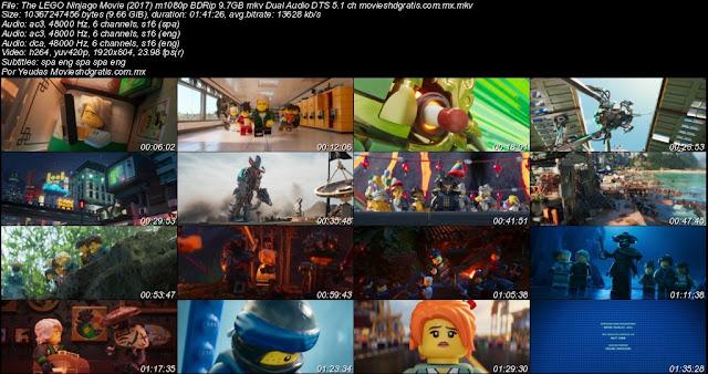 The LEGO Ninjago Movie (2017) 720p y 1080p BDRip mkv Dual Audio ...