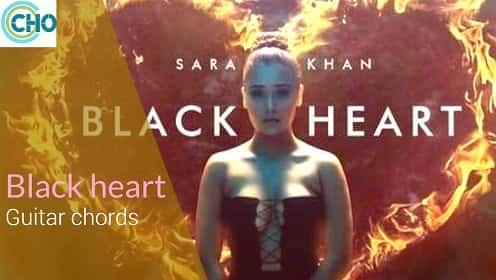 BLACK HEART guitar chords Accurate | Sara Khan